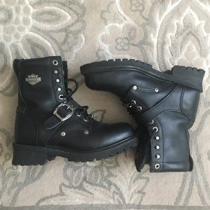 Harley Davidson Motorcycle Boots - Women's 8